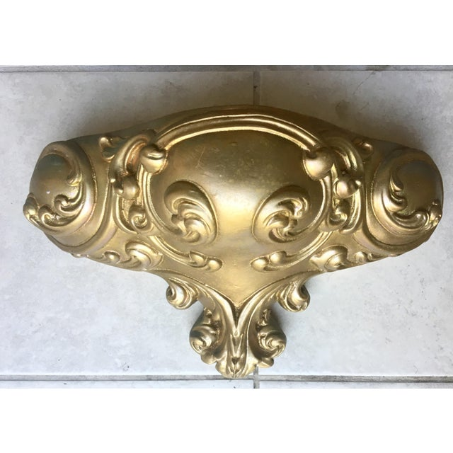 Heavy Chalkware Sconce, Wall Pocket - Image 2 of 5