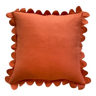 Carly Home Paprika Scalloped Pillow