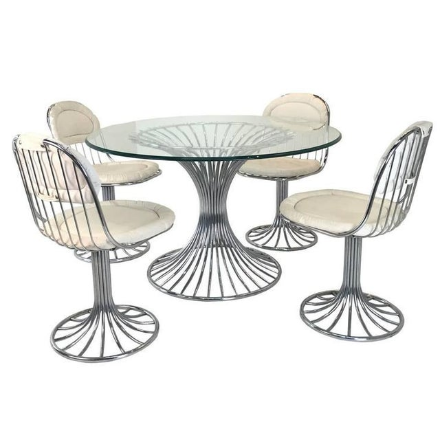 Mid-Century Modern Sculpted Dining Set - Image 1 of 8