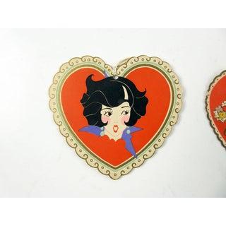 Vintage Art Deco Valentine Bridge Tally Cards - a Pair Preview