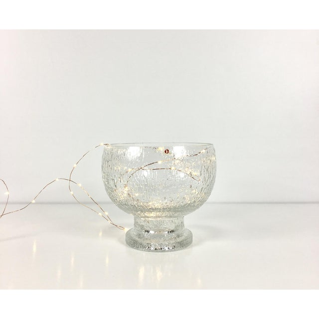 Mid 20th Century Mid 20th Century Timo Sarpaneva Kekkerit Footed Glass Bowl for Iittala Finland For Sale - Image 5 of 12