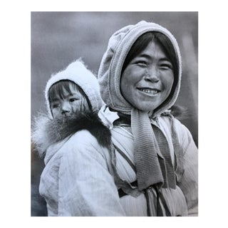 Vintage Alaskan Inuit Mother & Baby Photograph For Sale