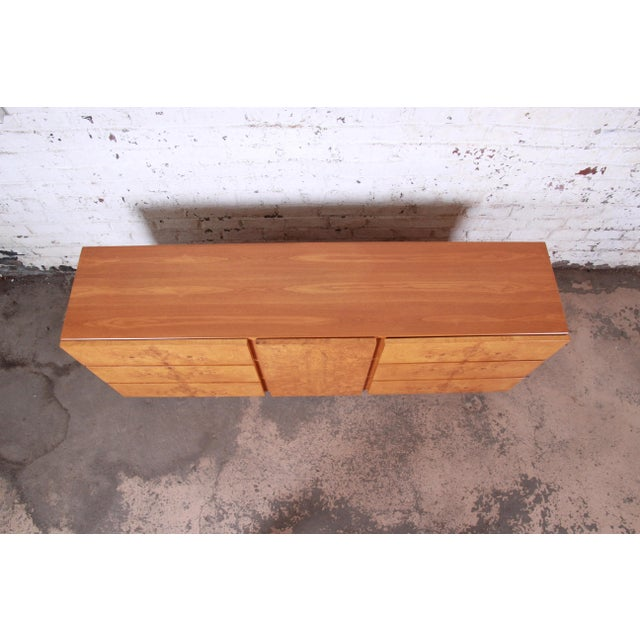 Burl Wood Credenza by Lane Furniture For Sale - Image 10 of 13