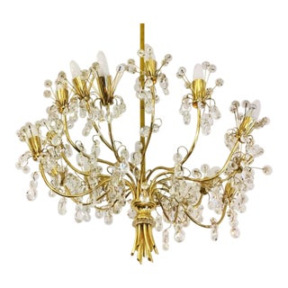 Large Chandelier by J. & L. Lobmeyr, 1970s For Sale