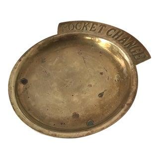 """Vintage Brass """"Pocket Change"""" Dish For Sale"""