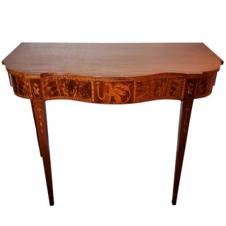 Nathan Magolis Handcrafted Hepplewhite Style Mahogany Inlaid Table For Sale