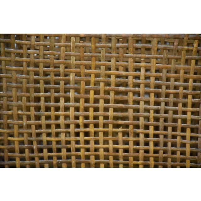 Bamboo & Rattan Magazine Rack For Sale In Boston - Image 6 of 8