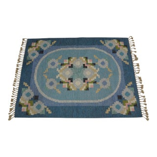 "Swedish Flat Weave Rug - 5'7"" X 7'5"" For Sale"