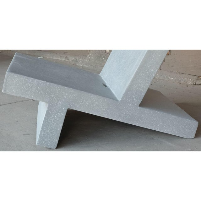 Contemporary Zachary A. Design Cast Resin 'Wavebreaker' Lounge Chair For Sale - Image 3 of 9