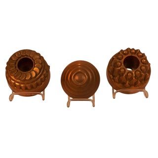 English Copper Molds - Set of 3 For Sale