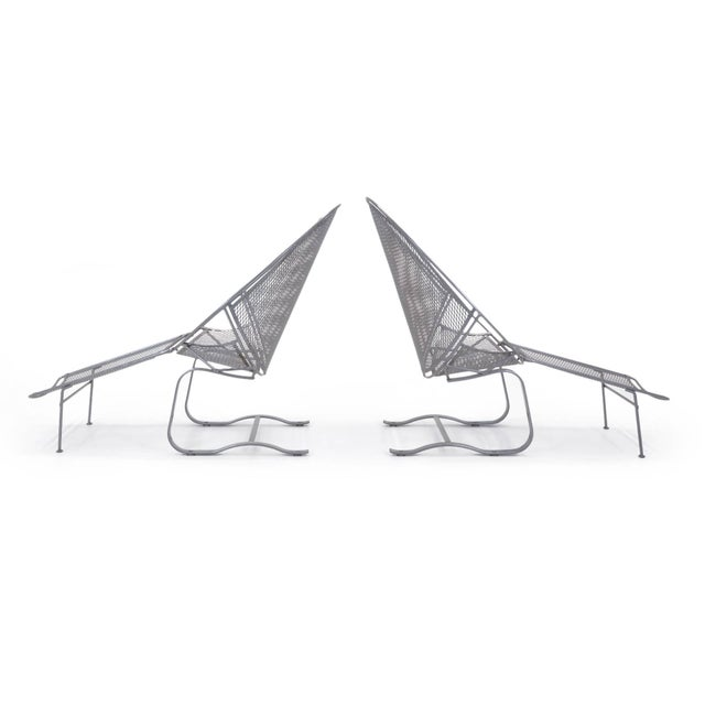 John Salterini John Salterini High Back Patio Lounge Chairs With Footrests - a Pair For Sale - Image 4 of 11
