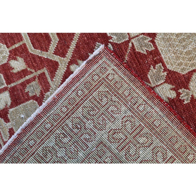 """Islamic Hand Knotted Multi Color Rug - 5' x 8'3"""" For Sale - Image 3 of 4"""