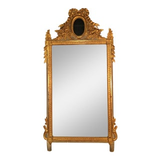 Louis XVI Style Painted and Gilded Mirror