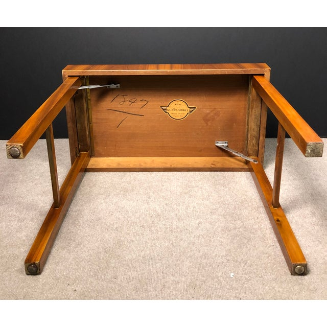 Mid-Century Modern Kunst-Mobel Folding Table For Sale - Image 10 of 13