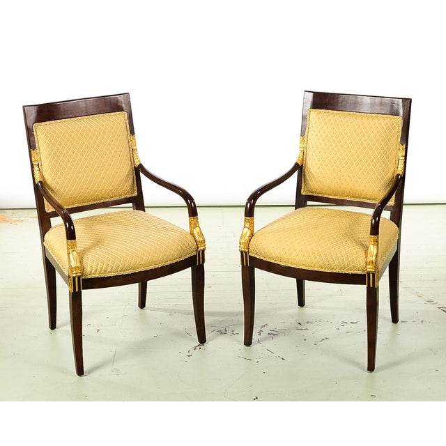 French Empire Mahogany Chairs -A Pair For Sale - Image 10 of 10