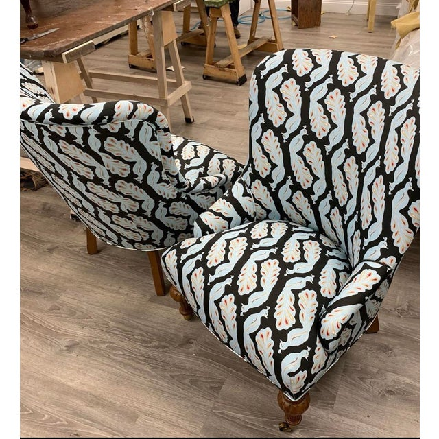 2020s Upholstered Peacock Print Chair For Sale - Image 5 of 8