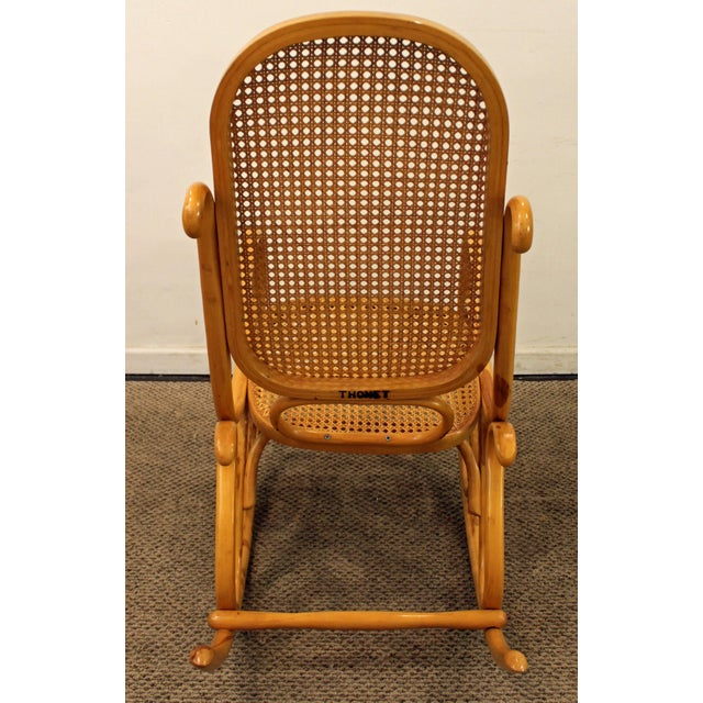 Thonet Salvatore Leone Bentwood Caned-Seat Rocking Chair #10 For Sale - Image 5 of 11
