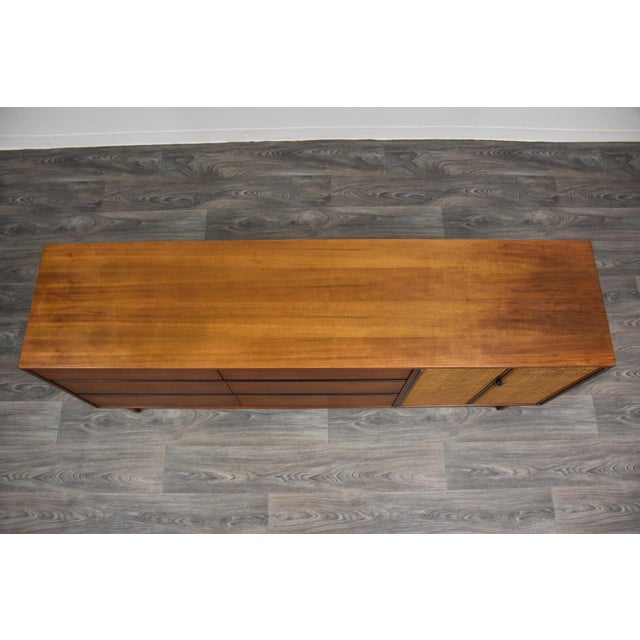 Kipp Stewart for Calvin Walnut Dresser Vanity For Sale In Boston - Image 6 of 12