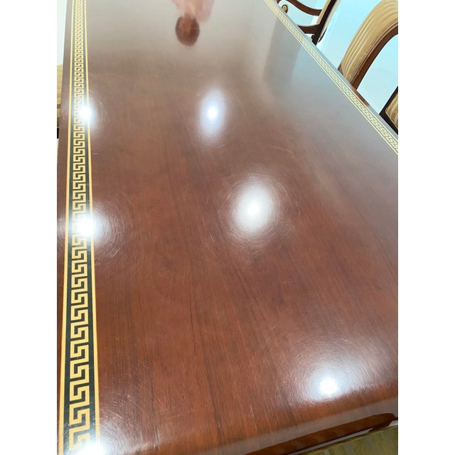 Custom Furniture Builders Versace Style Dining Set-Set of 9 For Sale In Los Angeles - Image 6 of 13