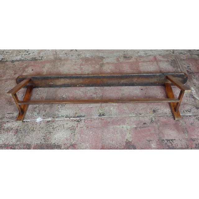 19th Century Antique Walnut Farm Bench For Sale - Image 10 of 11