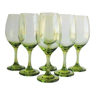 Chartreuse Wine Glasses, Set of 6