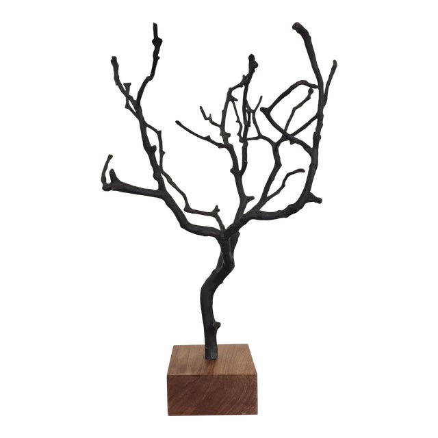 Organic Contemporary Bronze Manzanita Jewelry Tree For Sale