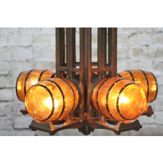 1930s Tavern Chandelier With Barrell Shades Preview