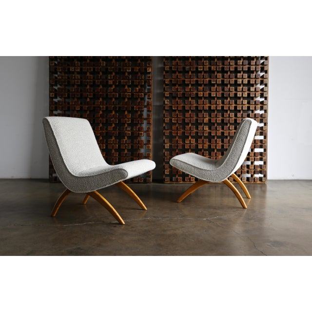 Milo Baughman for Thayer Coggin Milo Baughman Scoop Chairs for Thayer Coggin Circa 1955 - a Pair For Sale - Image 4 of 13
