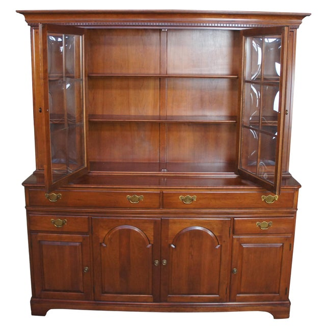 Traditional Traditional Pennsylvania House Cherry China Display Cabinet For Sale - Image 3 of 13