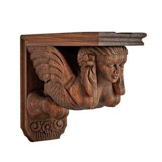 Carved Walnut Architectural Corbel W/ Mermaid Circa 1870s