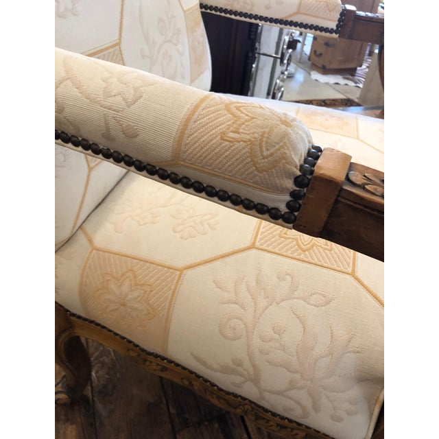 Baker Furniture Company Baker French Style Arm Chair For Sale - Image 4 of 11