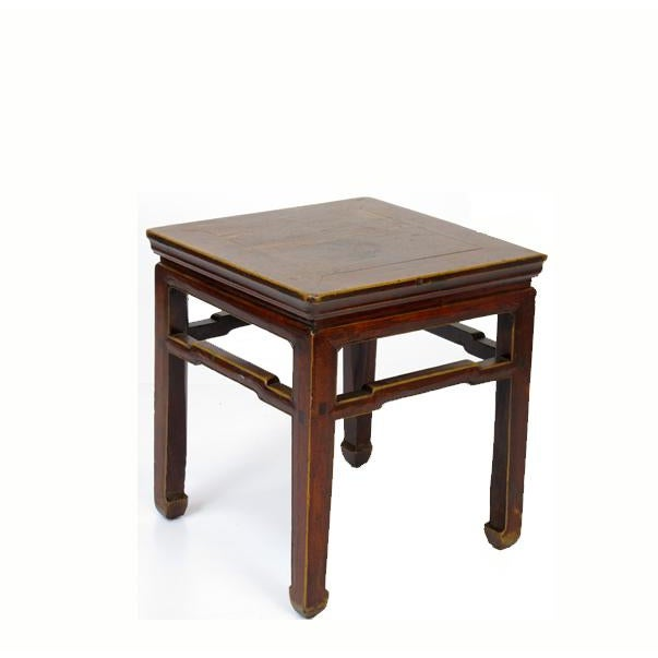 This simple straight line wood side table was used as stool in the old time. It is made of solid elm at the beginning of...