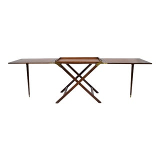 Baker Furniture Party Butler Table With Removable Tray and Butterfly Top For Sale