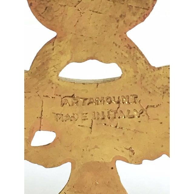 Vintage Italian Brass Letter Holder - Image 3 of 3