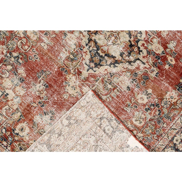 "1910s Apadana-Antique Persian Distressed Rug, 6'6"" X 9'1"" For Sale - Image 5 of 10"