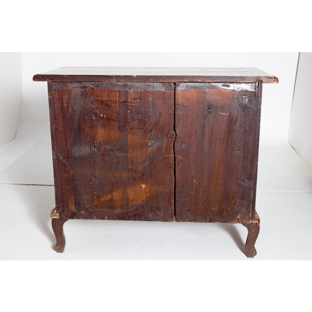 Mid-18th Century Baroque Walnut Three Drawer Chest For Sale - Image 11 of 13