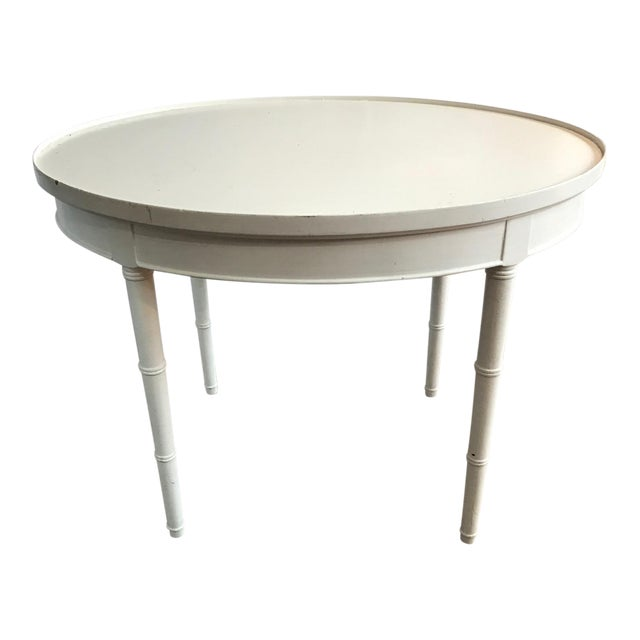 Maison Jansen Style White Wooden Side or Coffee Table - Image 1 of 6