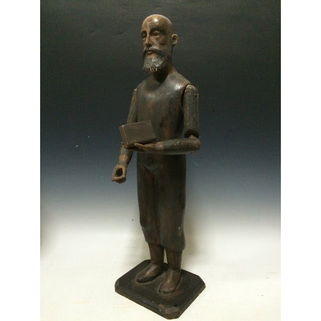 Male Carved Wood Articulated Mannequin - Image 6 of 6