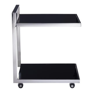 Pasargad Luxe Collection Glass & Steel Serving Table
