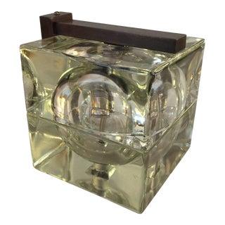 Glass 'Cubosfera' Sconce by Alessandro Mendini