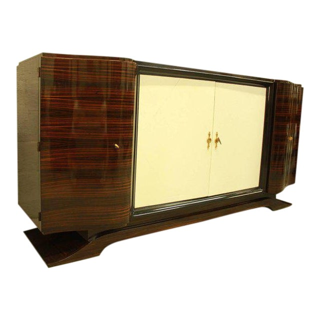 1940s Art Deco Maurice Rinck Macassar Sideboard For Sale
