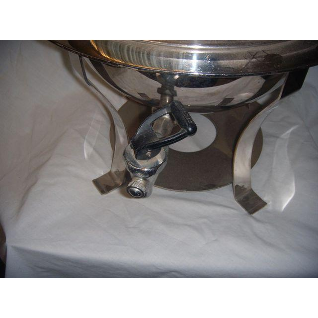 Mid-Century Modern Mid-Century Stainless Steel Hot Water Samovar Dispenser For Sale - Image 3 of 6