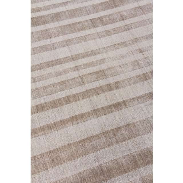 """Not Yet Made - Made To Order Iscar Hand loom Wool/Viscose Mineral Rug-6'x9"""" For Sale - Image 5 of 8"""