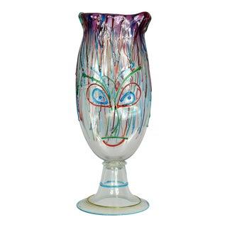 1950s Vintage Luigi Mellara Murano Glass Vase For Sale