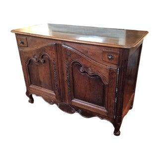 18th Century Louis XV Walnut Buffet For Sale