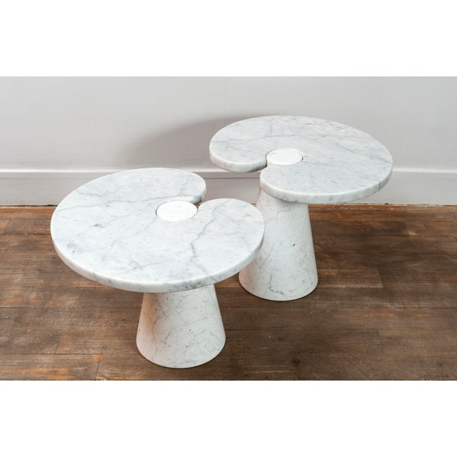 """Marble Pair of Marble """"Eros"""" Tables by Mangiarotti For Sale - Image 7 of 11"""