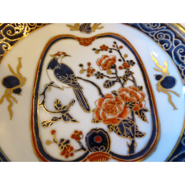 Vintage Chinoiserie Hand Painted Japan/Hong Kong Plates - Set of 3 For Sale - Image 5 of 10