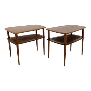 1960s Mid-Century Modern Peter Hvidt for France and Son Side Tables - a Pair For Sale
