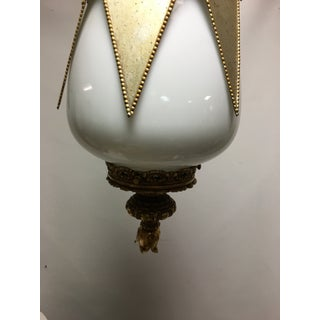 1960s Hollywood Regency Gold & Silver Hanging Lamp Preview