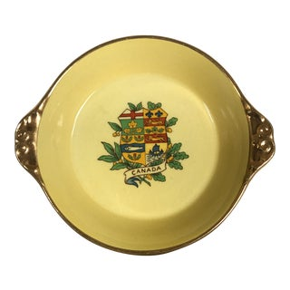 "1930's Royal Winton Gilded Ceramic ""Canada"" Coaster/Plate"